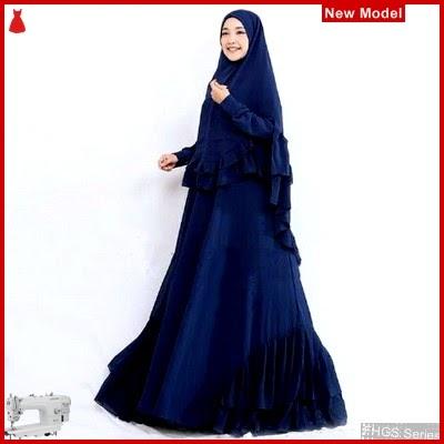 FHGS9073 Model Syari Salwa Navy, Perempuan Pakaian Muslim Jersey BMG
