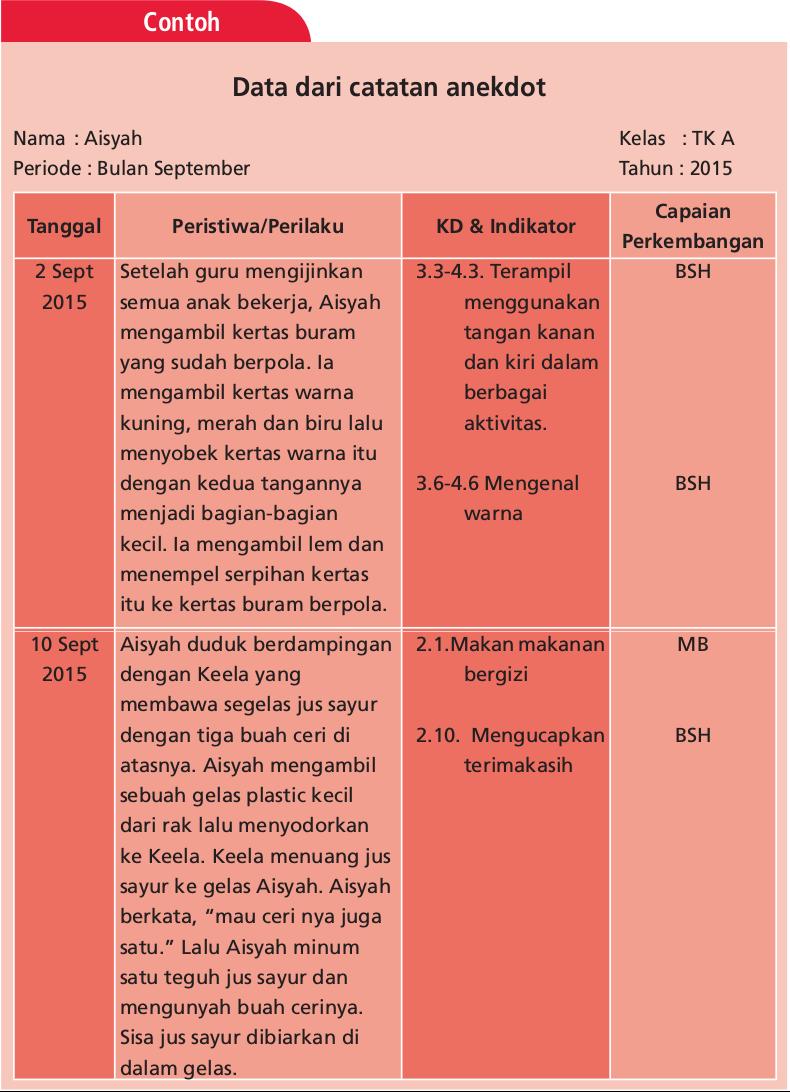 Contoh Catatan Anekdot Anak Tk Contoh Now – Cuitan Dokter