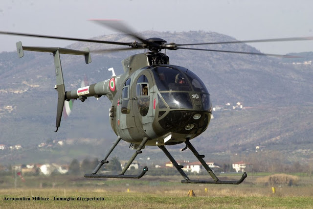 Italian Air Force helicopter hard landing