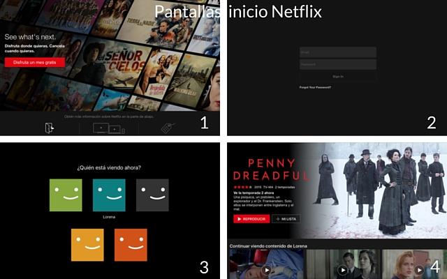 Netflix pantallas de inicio
