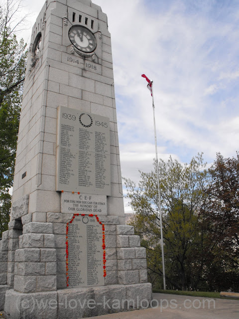 Kamloops soldiers names are embedded in the cenotaph to be remembered forever