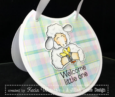 A Jillian Vance Design, Kecia Waters, Copic markers, shape card, baby bib