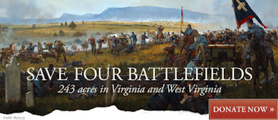 Save 4 Battlefields in Virginia and West Virginia!