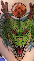 tatuaje esfera y dragon