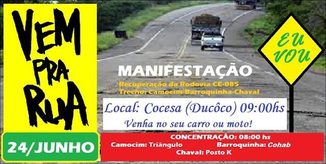 Usuários da CE-085 farão manifestação pela recuperação da Rodovia