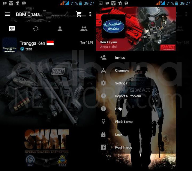 Preview BBM Swat - BBM Android V2.10.0.35