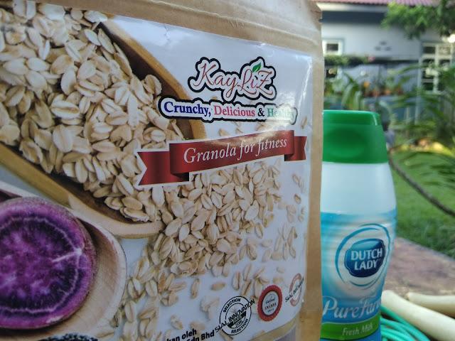 kayliz granola, granola oat, oat sedap, granola sedap