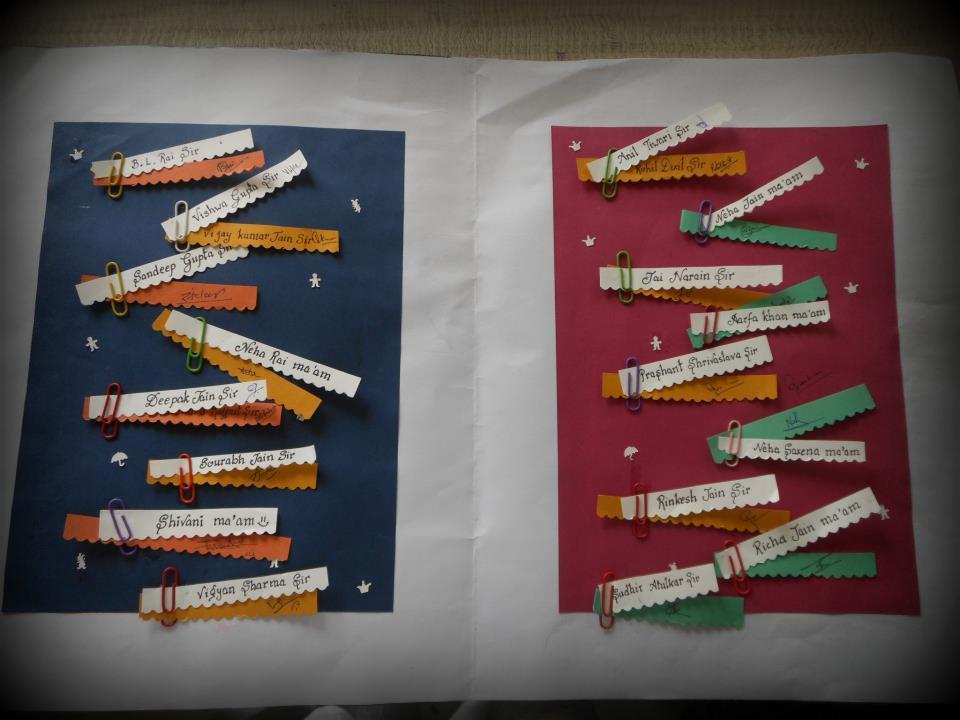 teacher's day invitation card  icandy craft