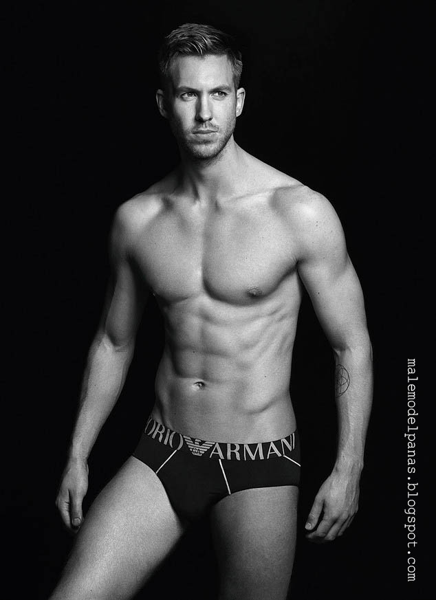 calvin harris for emporio armani ads