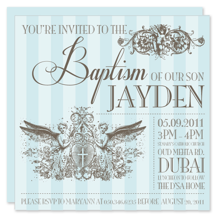Paper Couture Stationery Baptism and Christening invitations