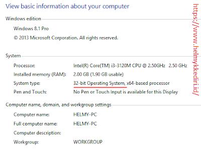Perbedaan Windows 32 Bit dengan 64 Bit