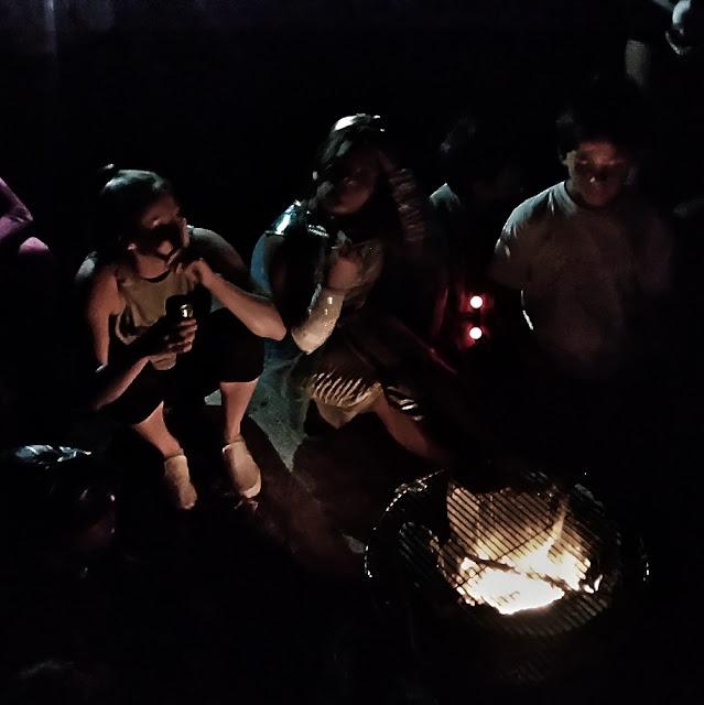 halloween bonfire with friends