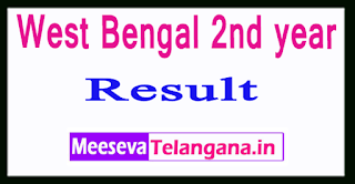 West Bengal 2nd year Result 2017