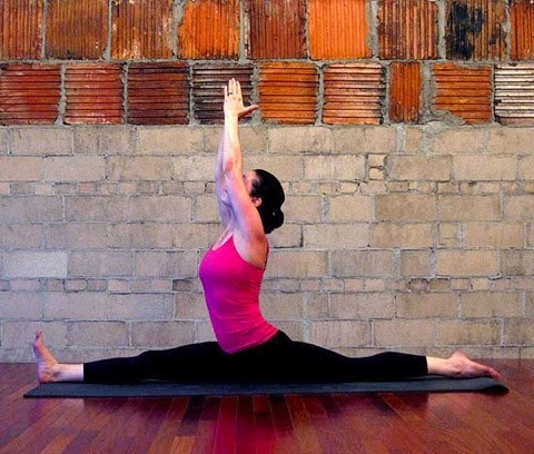 frobunni yoga pose of the month front split pose