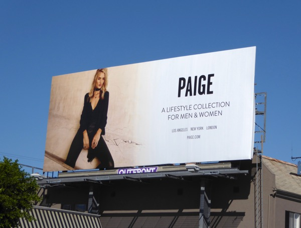 Paige Spring 2017 fashion billboard
