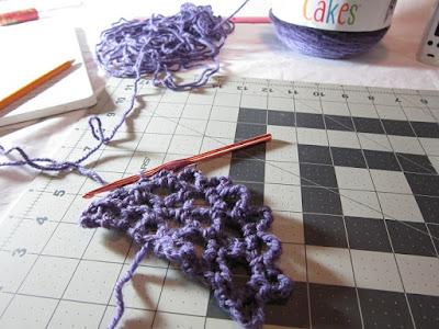 crochet, shawl, yarn, Caron Cakes