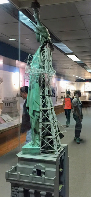 Statue of Liberty cutaway model shows interior framework designed by Gustav Eiffel
