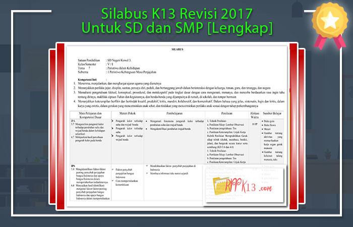 Silabus K13 Revisi 2017 SD