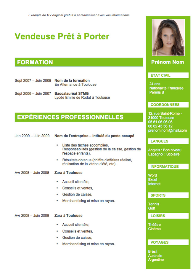Blog dv fran ais faire un bon cv for Apprentissage cuisine geneve