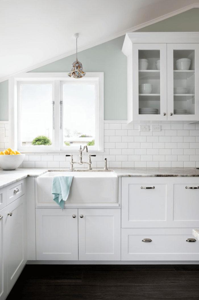 parlak beyaz mutfak dolabı modelleri