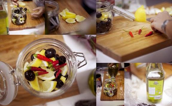 Пикантные оливки, или Новогодний подарок своими руками