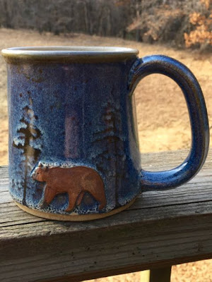 bear and spruce coffee mug