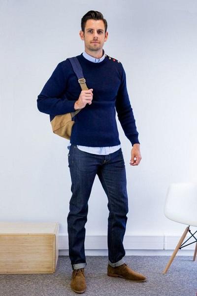 tips cara memadukan sweater dan jeans