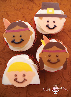 http://birdonacake.blogspot.com/2012/11/thanksgiving-pilgrim-indian-cupcake.html