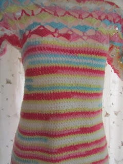 free crochet pattern, free crochet ladies top pattern, ICE Batik yarn