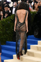 Kendall Jenner in naked dress at the 2017 Met Gala red carpet