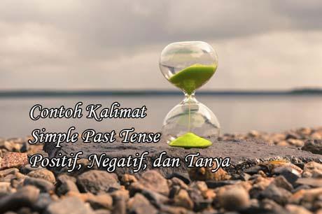 contoh kalimat simple past tense positif negatif dan tanya