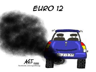 euro 6, emissioni, disel, Ue, unione europea, ecologismo, satira vignetta