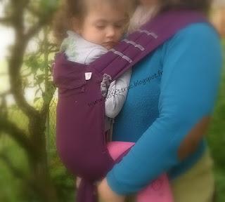 mid-taï + LLA ling ling d'amour mei-tai pas cher bretelles mixtes à nouer coton bio porte-bébé portage