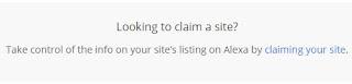 claim alexa rank blog or your site, klaim