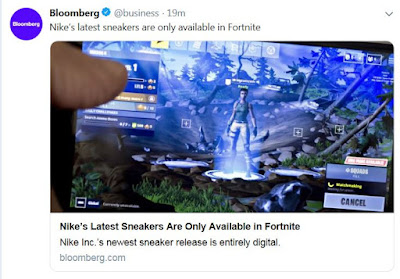 https://www.bloomberg.com/news/articles/2019-05-22/nike-s-latest-sneakers-are-only-available-on-fortnite-game?utm_campaign=socialflow-organic&utm_source=twitter&utm_medium=social&cmpid=socialflow-twitter-business&utm_content=business