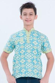 Model baju batik anak laki-laki usia 12 tahun