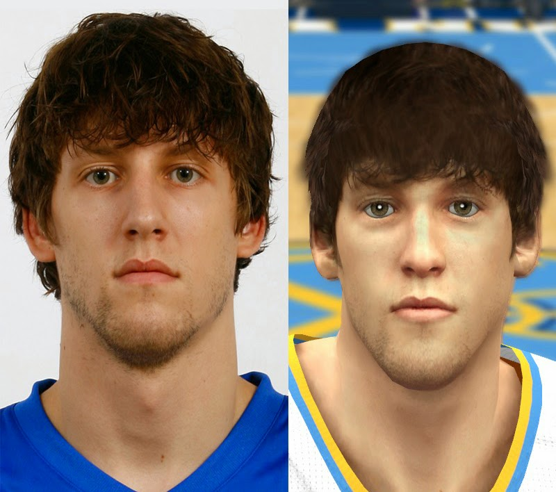 NBA 2K14 Jan Vesely Face Mod