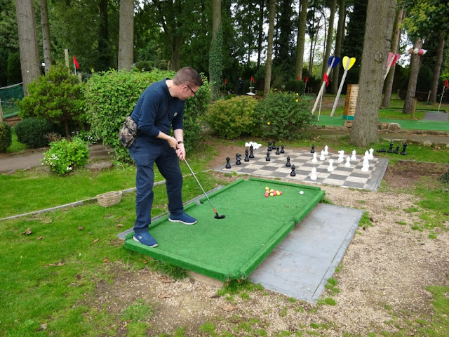 In October we played Crazy Golf Pool at Krazy Golf Lydney in the Forest of Dean