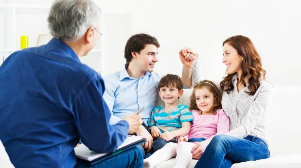 Familia mejorando la comunicación