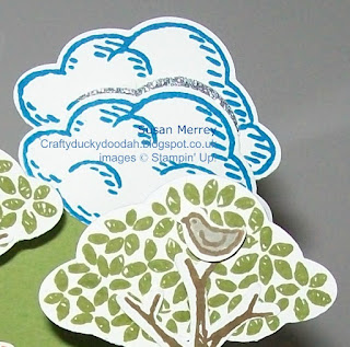 Stampin' Up! Made by Susan Simpson (Merrey) Independent Stampin' Up! Demonstrator, Craftyduckydoodah!, Sprinkles of Life, Tree Builder Punch, Gift Bag Punch Board,