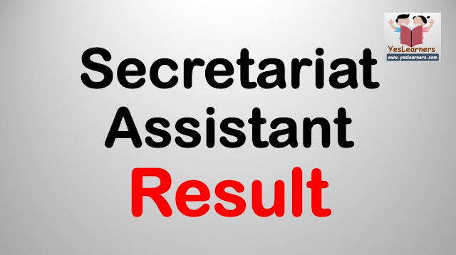 Secretariat Assistant - Result