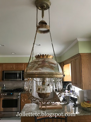 Victorian Parlor Lamp or Library Lamp https://jollettetc.blogspot.com