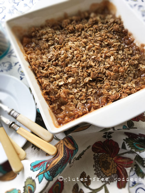 Gluten-Free Apple Crisp with Oats - Gluten-Free Goddess classic, delicious