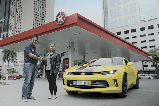 Winner of Caltex-Transformers promo takes home brand-new Chevrolet Camaro