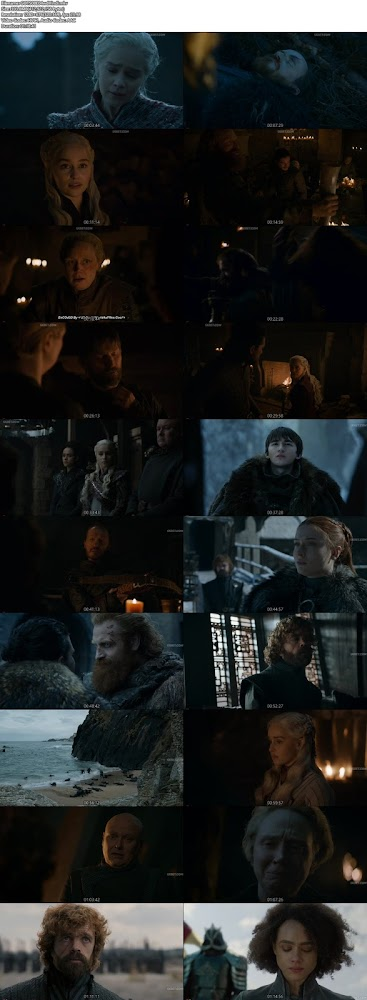 Screenshots Of Hindi Dubbed Show Game of Thrones 2019 Season 08 Episode 04 300MB 720P HD
