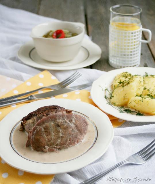 podroby, wieprzowina w sosie chrzanowym, obiad, niedzielny obiad, daylicooking