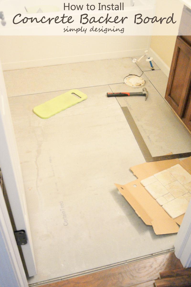 How to Install Hardibacker {Tile Installation: Part 2} #diy #tile #bathroomremodel #thetileshop @thetileshop
