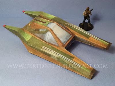Star Wars Green Airspeeder Paper Model