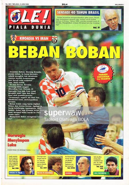 ZVONIMIR BOBAN CROATIA VS IRAN WORLD CUP 1998