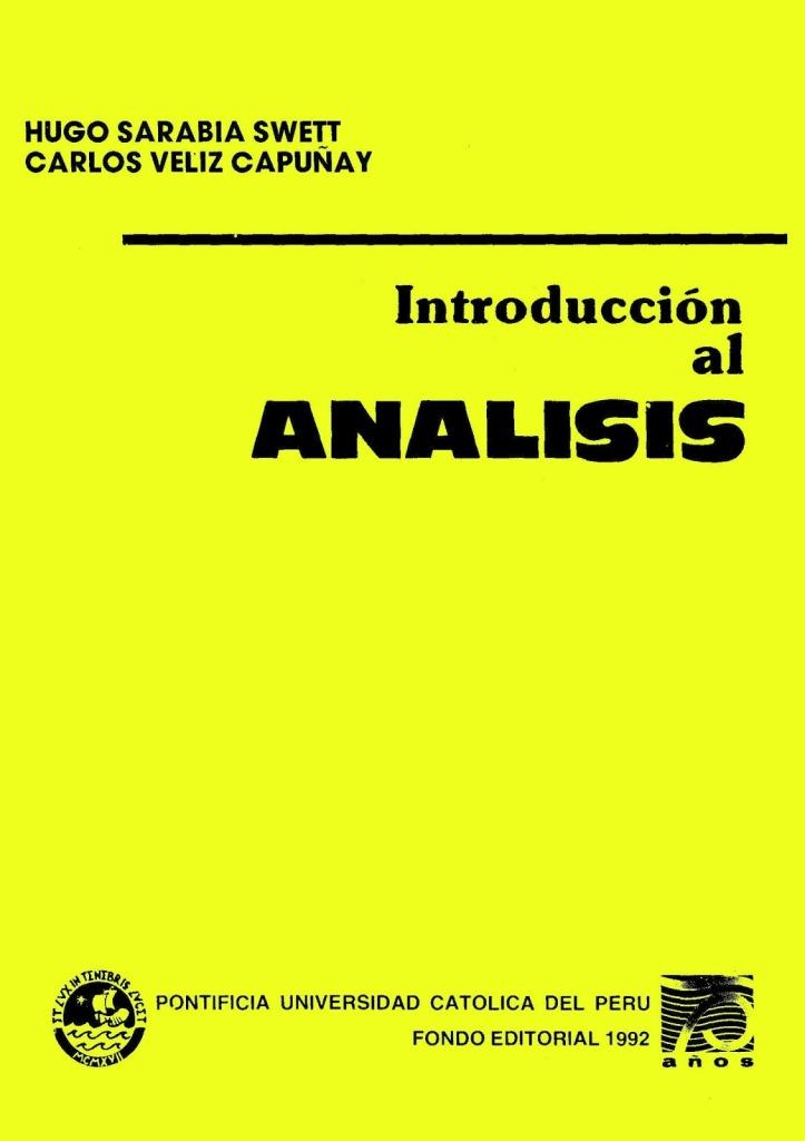 Introducción al análisis – Hugo Sarabia Swett